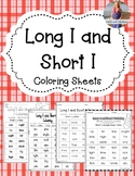 Long I & Short I Coloring! 4 pages