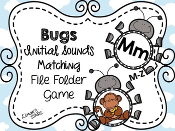 Bugs File Folder Game: Initial Sound Match M-Z