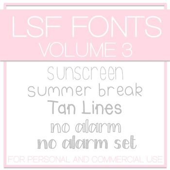 LSF Fonts - Volume 3
