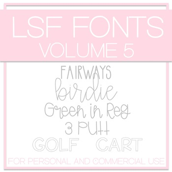 LSF Fonts - Volume 5