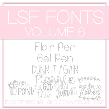LSF Fonts - Volume 6