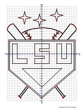 LSU Baseball Coordinate Grid Graphing