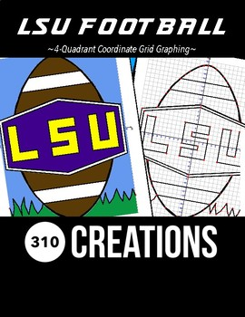 LSU Football Coordinate Grid Graphing