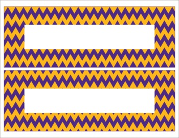 LSU Inspired Purple and Gold Editable Name Plates/Desk Tags/Word Wall
