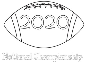 LSU National Championship Coloring Pages