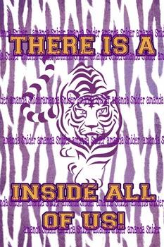 Classroom Theme Decor LSU Tiger Classroom Poster
