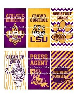 Classroom Theme LSU Tiger Group Jobs
