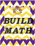 LSU Tigers math BUILD labels