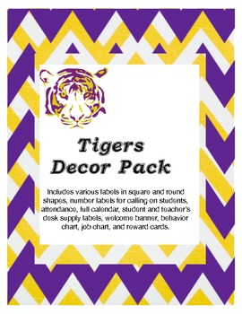 LSU tiger decor pack
