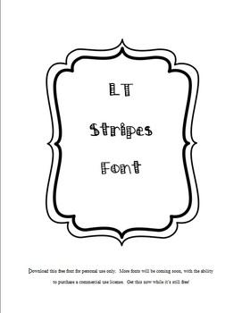 LT Stripes Font