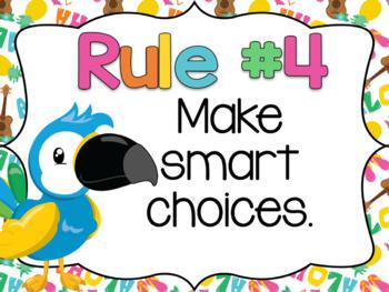 LUAU Theme Whole Brain Rule Posters
