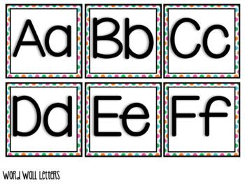 LUAU Theme Word Wall Letters & Pendants