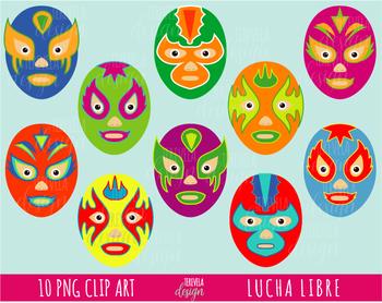 LUCHA LIBRE, MEXICO clip art, 5 de MAYO CLIPART, MEXICAN MASK