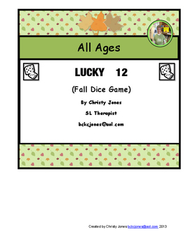 DICE GAME- LUCKY 12 - FALL VERSION