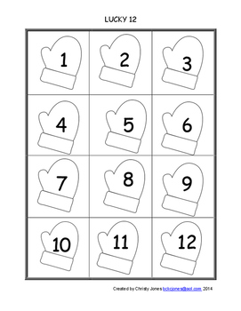 DICE GAME- LUCKY 12 Winter Version