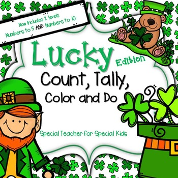 St. Patrick's Day- LUCKY Color, Count, Tally and Do- Instant &  Interactive Math