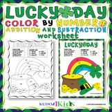 ➕➖Lucky Day A POT OF GOLD & RAINBOW COLOR BY NUMBER ADDITI