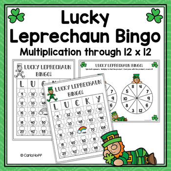 LUCKY LEPRECHAUN BINGO!  St. Patrick's Day Multiplication