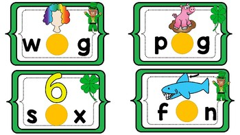 LUCKY Middle Sounds Lid Game CVC words