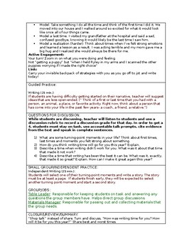LUCY CALKINS: Narrative Craft- Unit 1-Lesson Plan for session 1- Grade 5