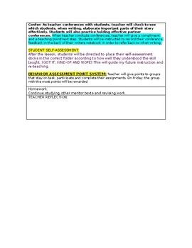 LUCY CALKINS: Narrative Craft- Unit 1-Lesson Plan for session 9- Grade 5