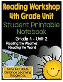 Lucy Reading Workshop: 4th Grade Notebook - Unit 2 - Distance Learning