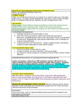 LUCY CALKINS:  THE LENS OF HISTORY- Lesson Plan for Session 3- Grade 5