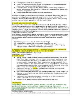 LUCY CALKINS:  THE LENS OF HISTORY- Lesson Plan for Session 9- Grade 5
