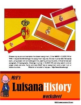 LUISIANA - Luisiana Spanish History TIC-TAC-TOE