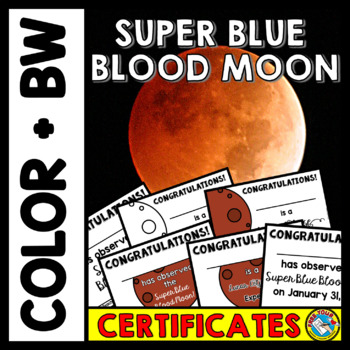 LUNAR ECLIPSE 2018 ACTIVITIES (SUPER BLUE BLOOD MOON CERTIFICATES)