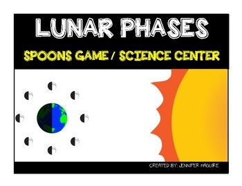 LUNAR PHASES - Spoons Game/Science Center