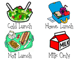 LUNCH CHOICE** Labels/Graph Headings