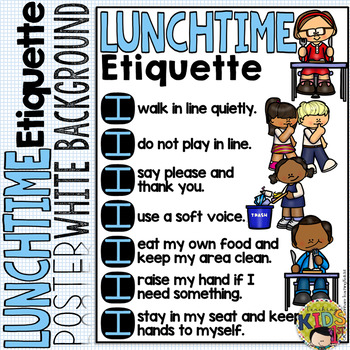 LUNCH ETIQUETTE POSTER (White Background)