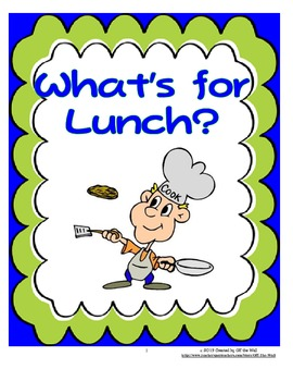 LUNCH MENU PICTURE CARDS