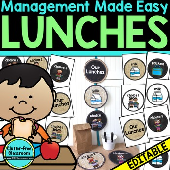 LUNCH ORDERS: Classroom Management Tool for Ordering Lunches