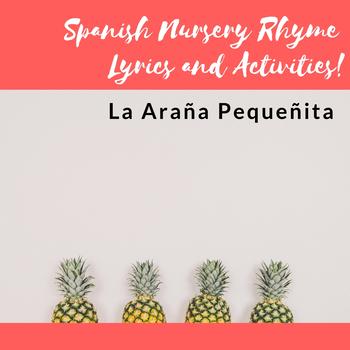 La Araña Pequeñita- Lyrics and Activities