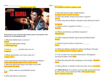 La Bamba - Complete Movie Question and Song Analysis