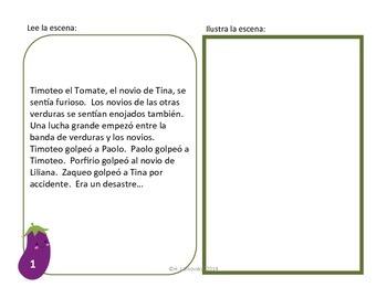Spanish Story Reading Activity Bundle: La Banda de Verduras