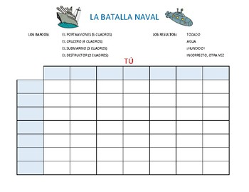 La Batalla Naval--Spanish Battleship Game