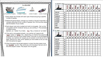 La Batalla/ Verb Battleship Review Game