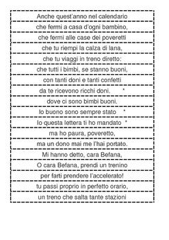 La Befana Italian Language Poem Unscramble & Comprehension