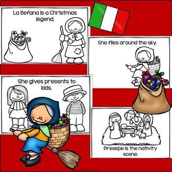 La Befana Mini Book for Early Readers - Christmas Activities