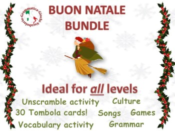 La Befana italian song with 2 vocabulary activities natale Christmas epiphany