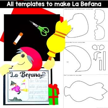 La Befana the Italian Christmas Witch Craft and Writing Activity
