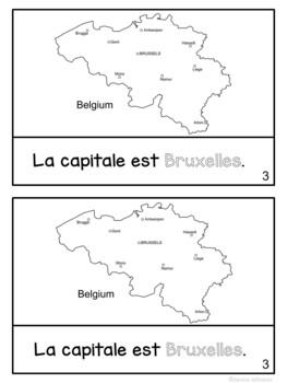 La Belgique ~ Belgium Reader & Vocab work ~ Simplified for Language Learners