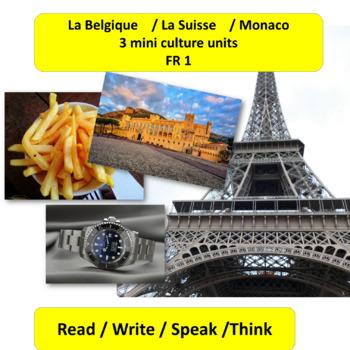 La Belgique / La Suisse / Monaco - 3 mini, content-based t