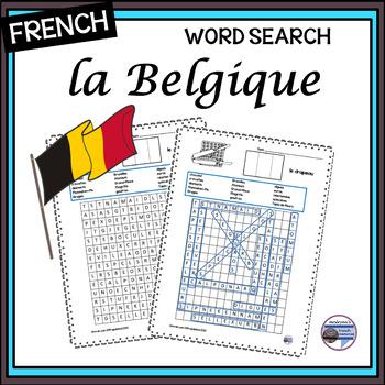 La Belgique - word search