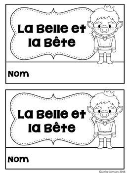 La Belle et la Bête French Reader  ~ Simplified for Language Learners
