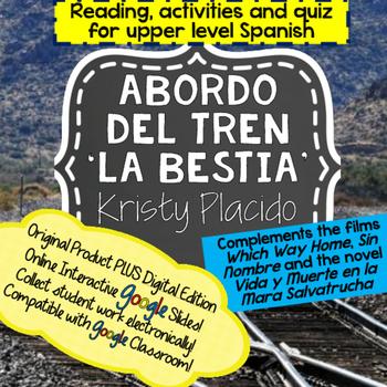 La Bestia Reading and activities includes ONLINE INTERACTIVE ACTIVITIES