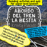 La Bestia Reading and activities includes ONLINE INTERACTIVE ACTIVITIES